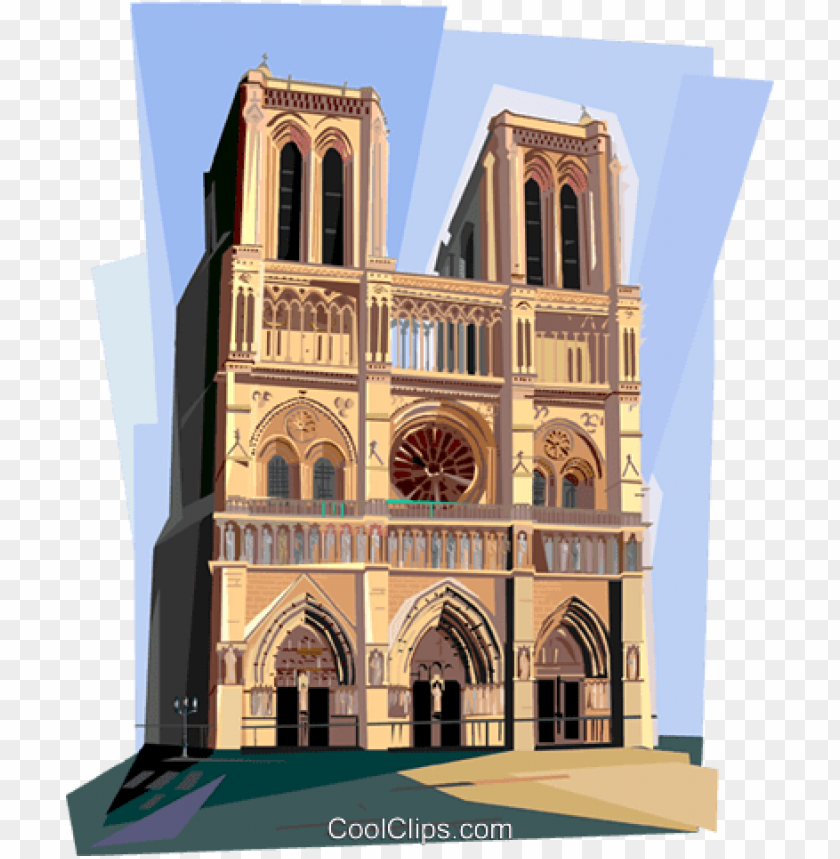otre dame de paris, france royalty free vector clip.