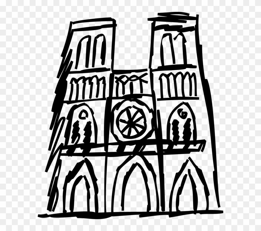 Vector Illustration Of Notre.
