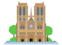Exterior notre dame cathedral paris france clipart » Clipart.