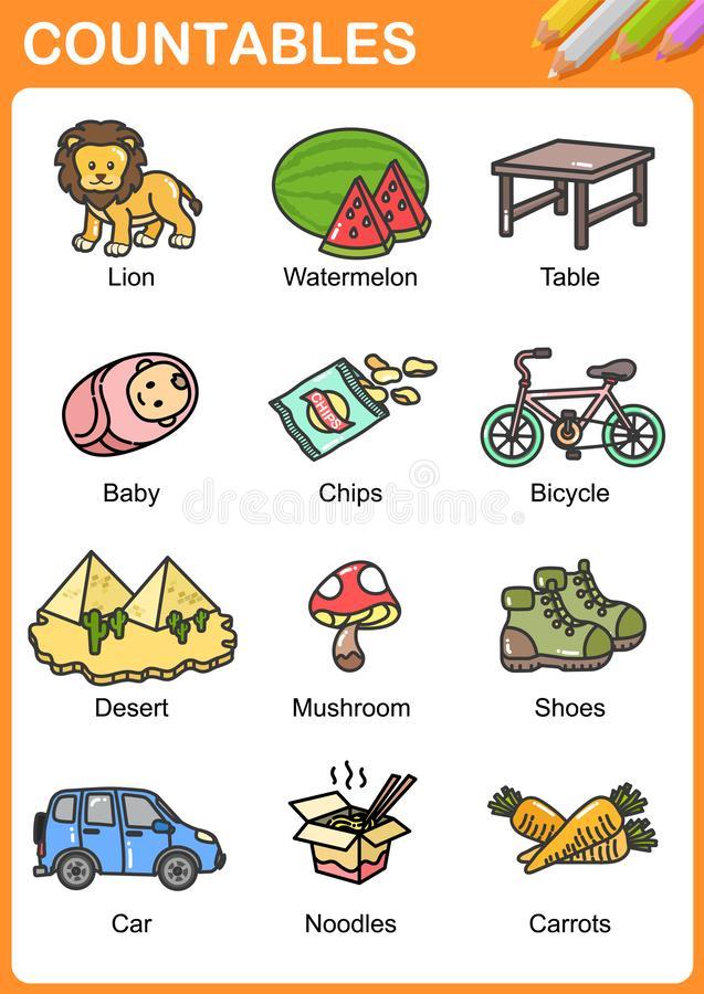 Nouns Stock Illustrations.