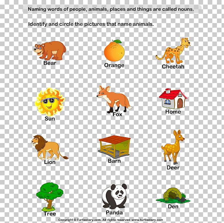 Naming Words: Nouns and Pronouns Kindergarten Worksheet.