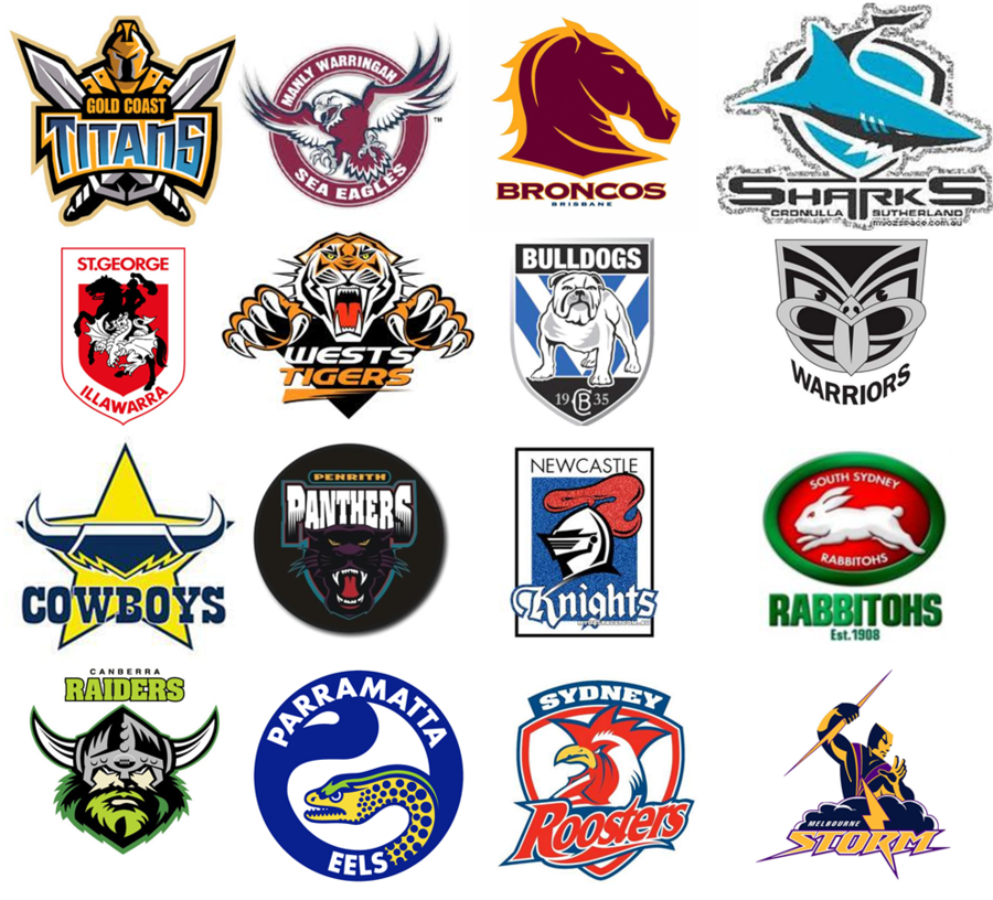 all nrl logos clipart National Rugby League Logo Sydney.