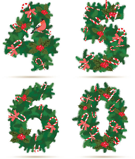 Vector Christmas Borders Set 4 Clip Art, Vector Images.