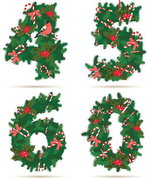 Vector Christmas Borders Set 4 Clip Art, Vector Images.