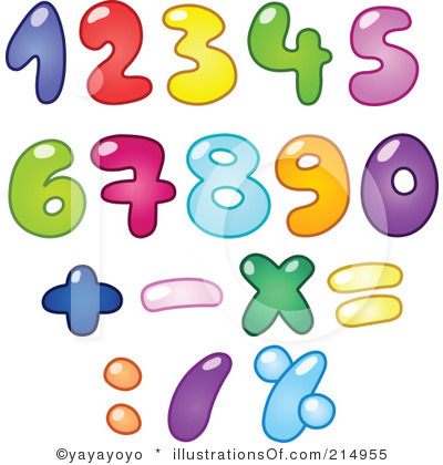 Free Clipart Numbers.