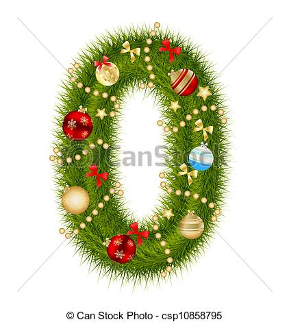 Free Christmas Number Clipart.