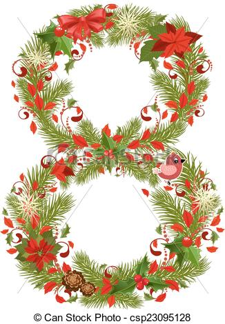 Clipart Number 6 Christmas Clipground
