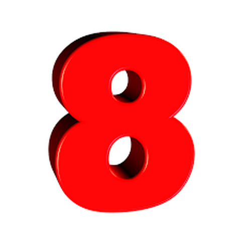 number 8 transparent background clipart Desktop Wallpaper.