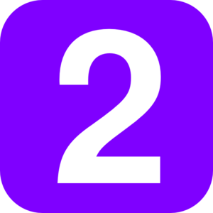 Purple Number Two clip art.