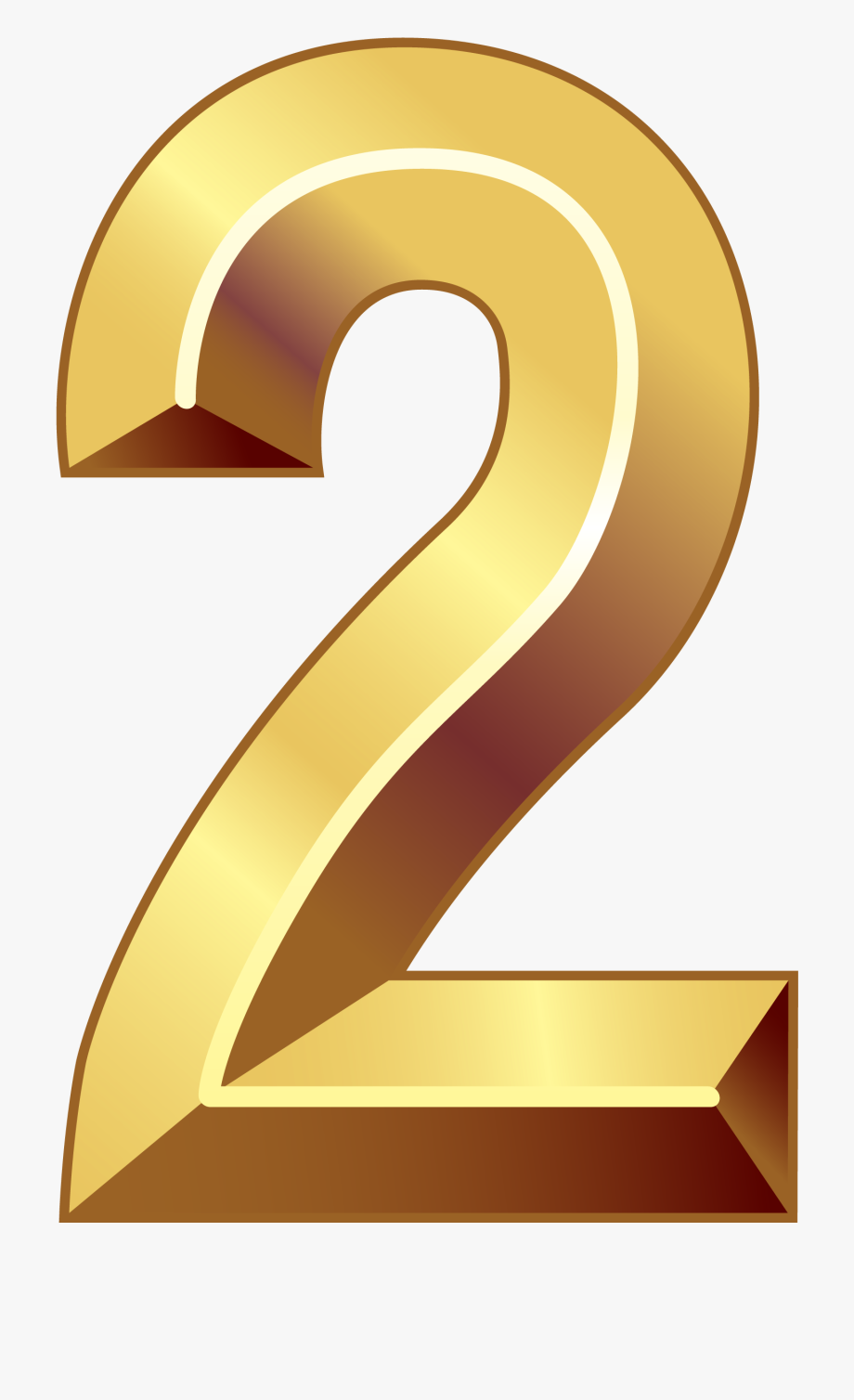 Number Two, Gold Number, Clipart Images, Vectors, Numbers,.