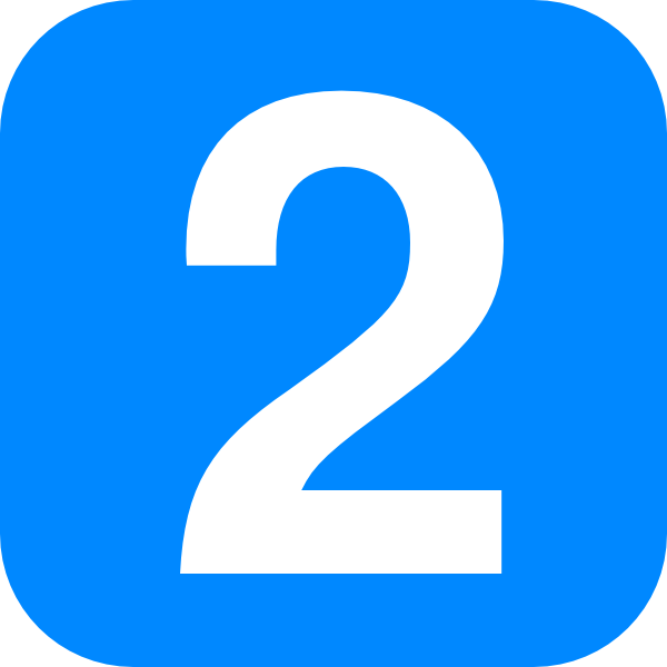 Blue Number Two Clip Art at Clker.com.