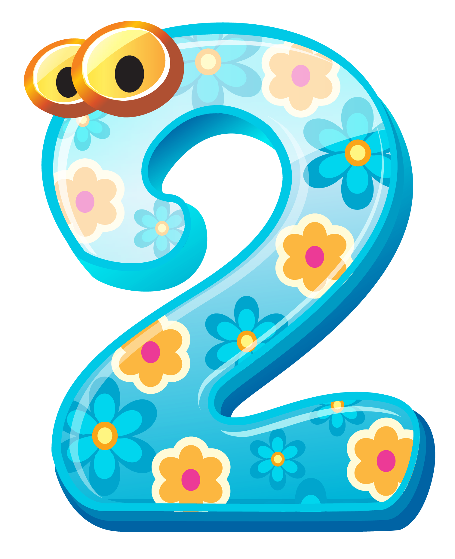 Numbers Cute Number Two Clipart Image Gallery High Png.