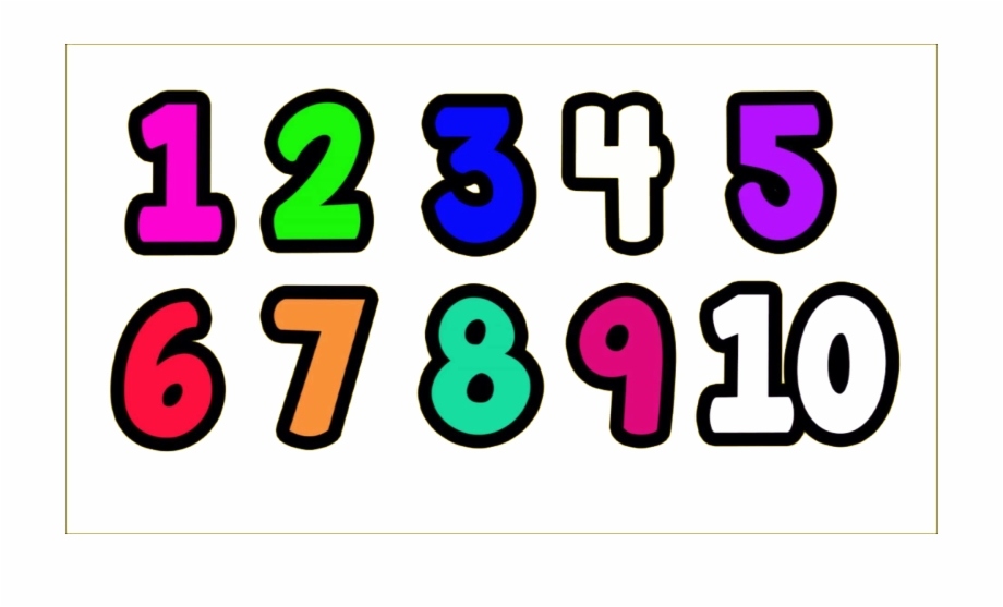 1 To 10 Numbers Transparent Png.