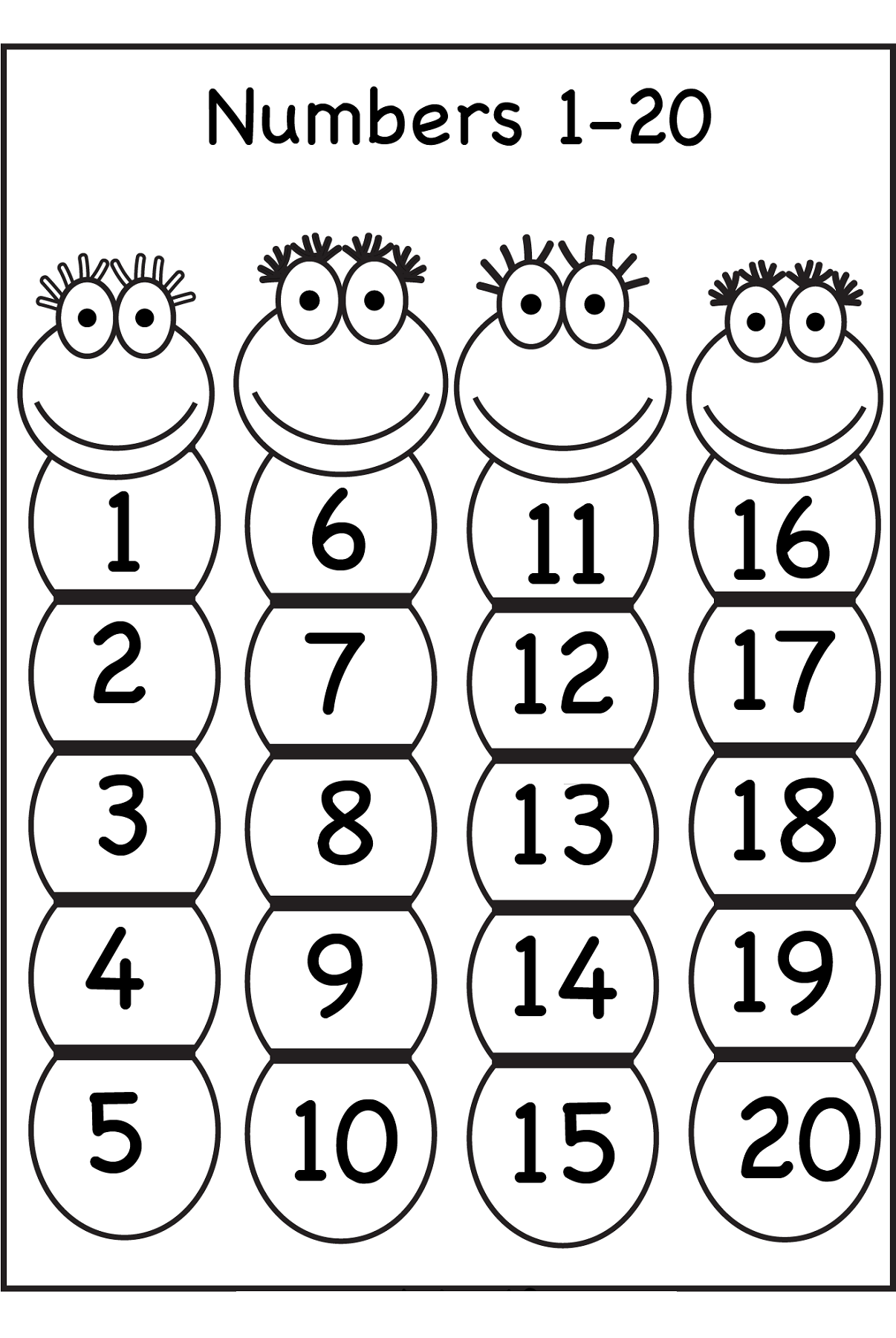 clipart numbers 1 20 Clipground