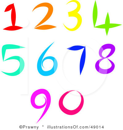 Clip Art Numbers 1 5.