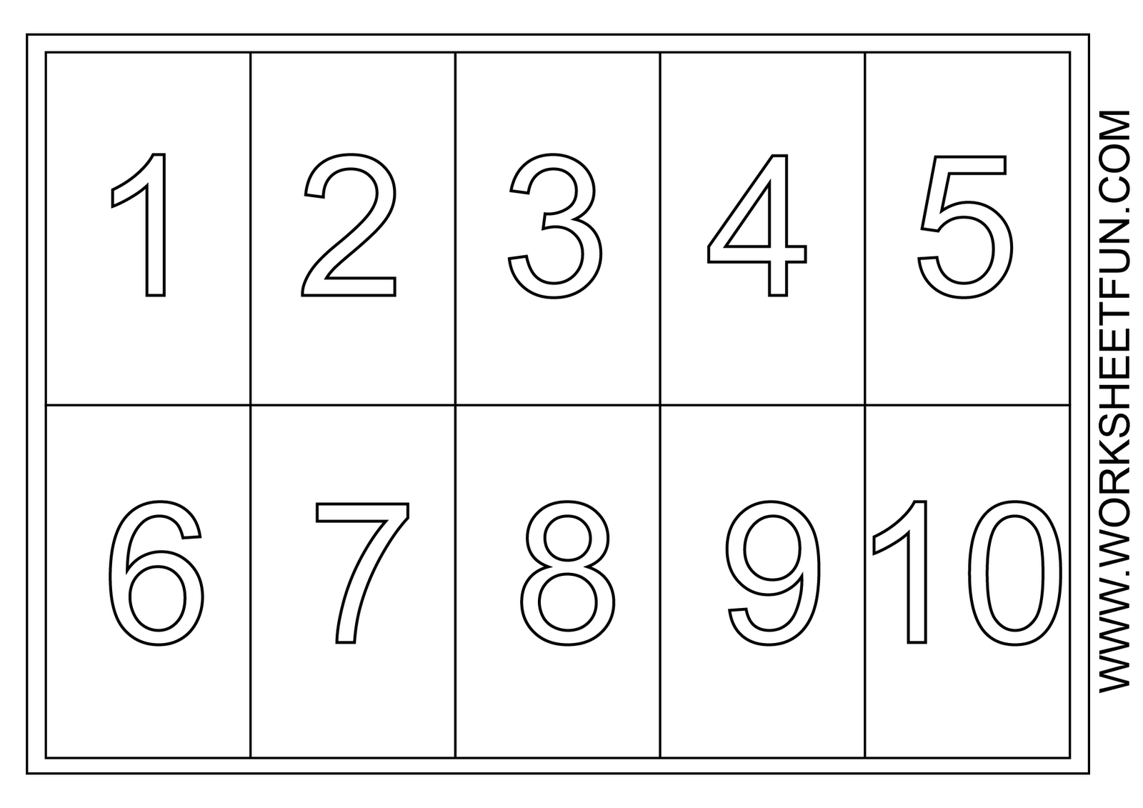Preschool numbers clipart number 1 with dot.