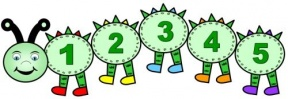 Clipart Numbers 1 5.