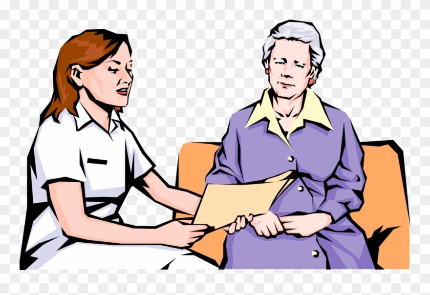 Nurse Reviews Results Vector Image Illustration Of.