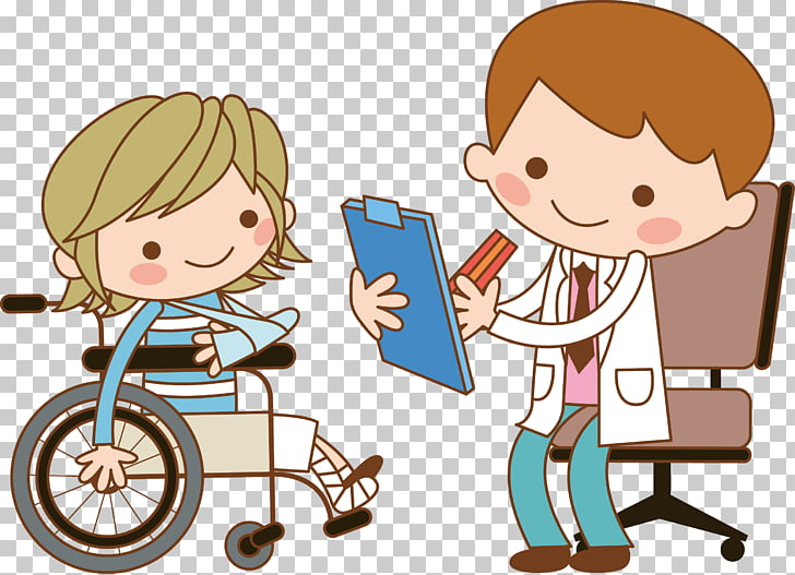 Nurse Patient Wheelchair , The doctor asked about the.