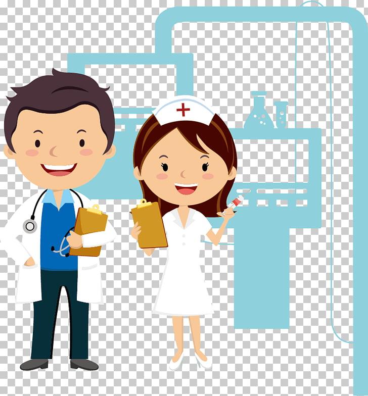 Cartoon Physician Nursing, Doctors and nurses cartoon.