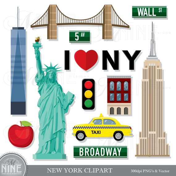 NEW YORK Clip Art / New York Theme Clipart Download / New York Clip.