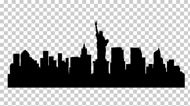 New York City Skyline Silhouette, building silhouette PNG.