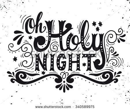O Holy Night Clipart.