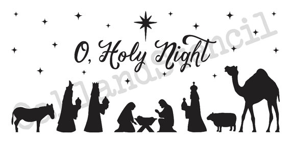 Christmas/Holiday STENCILNativity O Holy.
