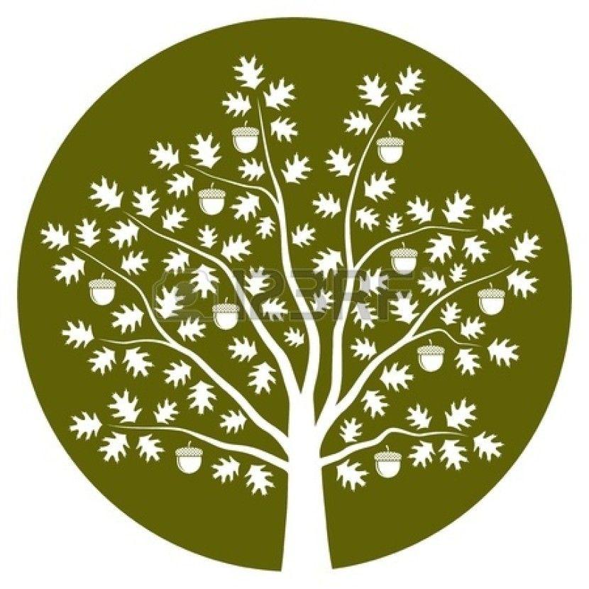 Oak Tree Silhouette Logo Free Clipart Images.