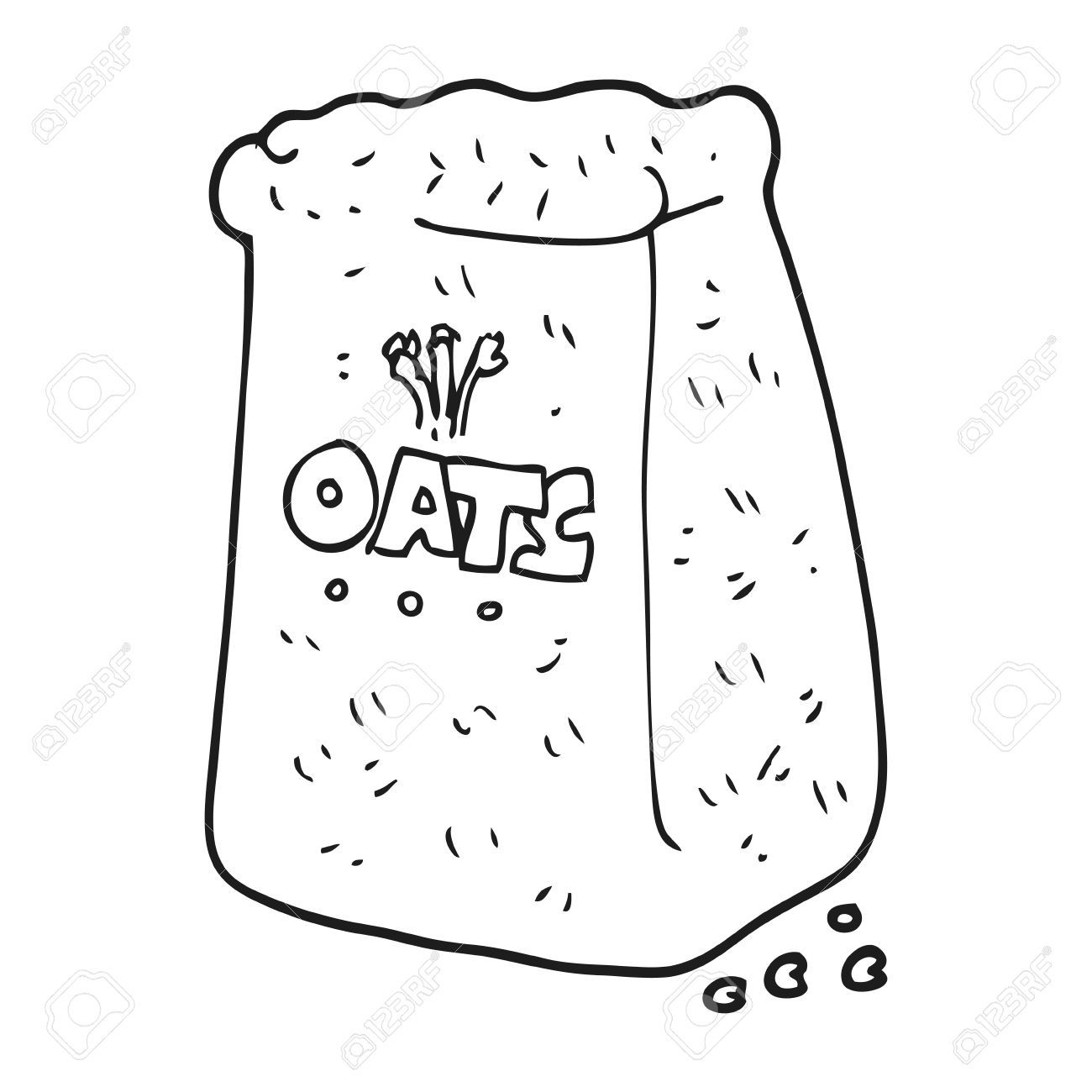 Black and white cartoon oats » Clipart Portal.