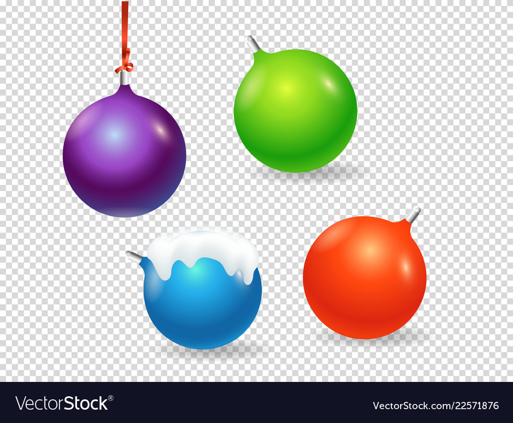 Christmas baubles clipart objects isolated on.