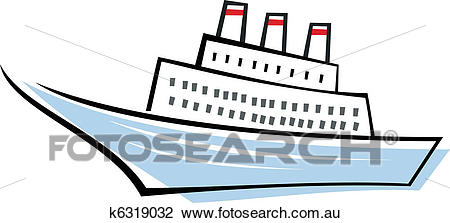 Clipart of Ocean liner.