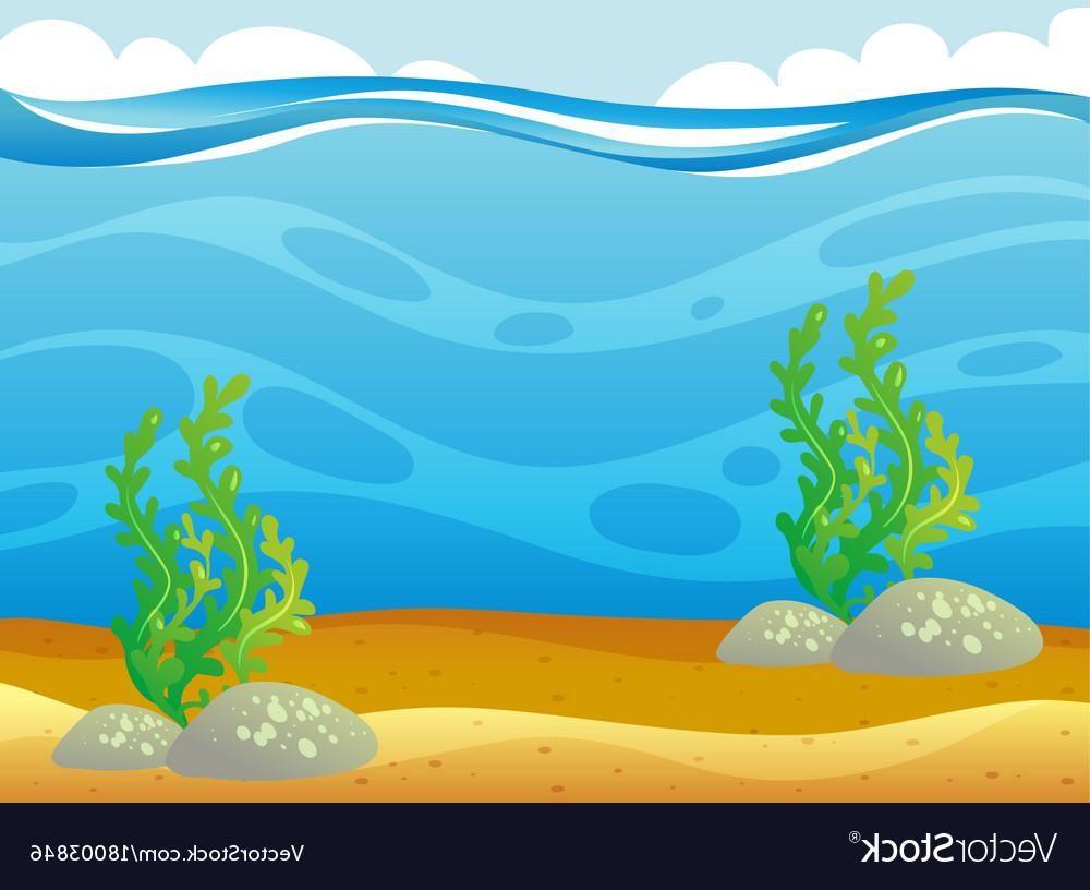 Best Cartoon Underwater Ocean Scene Vector Library » Free.