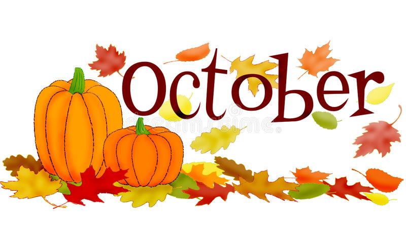 October Stock Illustrations.
