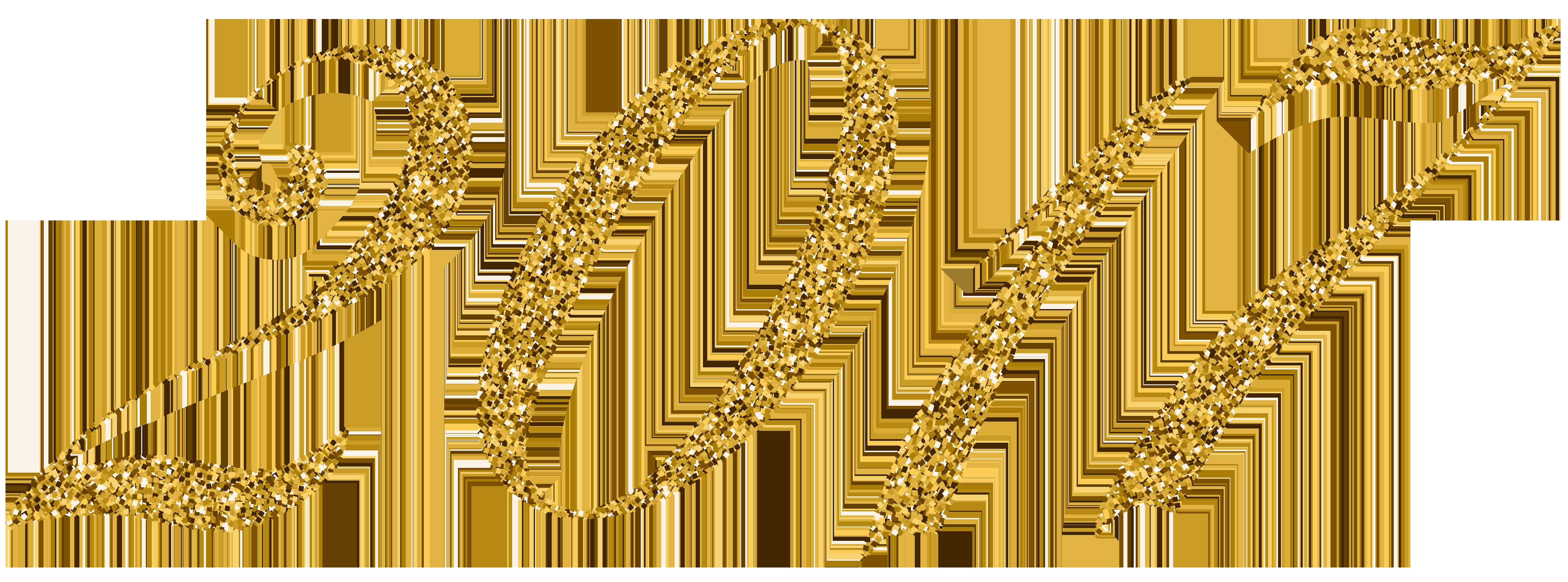 2017 Gold PNG Clip Art Image.