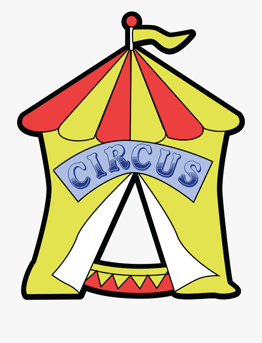 Free Clipart Of A Big Top Circus Tent.