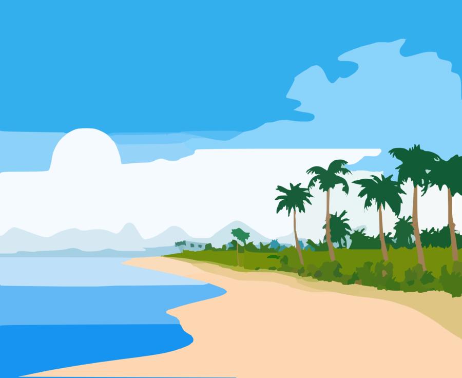 Beach Background clipart.