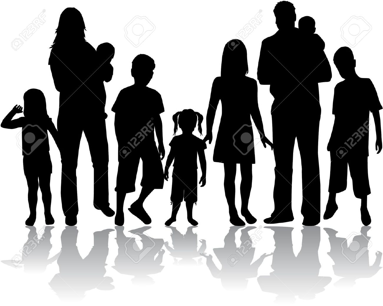Big Family Clipart Black And White Www.galleryhip.com.
