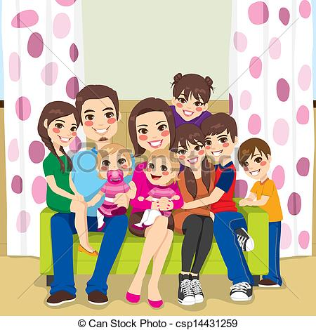 Big family clipart 5 » Clipart Station.