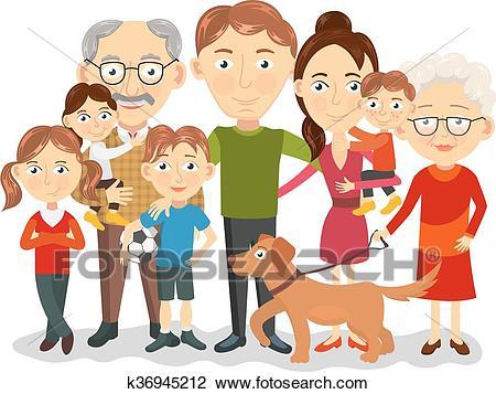 Big family portrait Clipart.