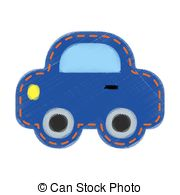 Vector Clip Art of Kids and car.