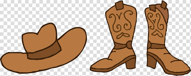 Cowboy boot Free content , Cowboy Cartoon transparent background PNG.