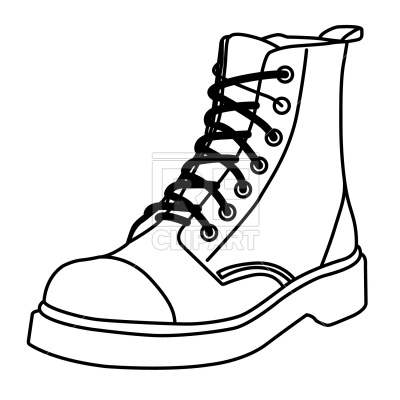 Boot outline Vector Image.