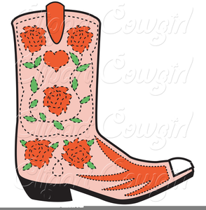 Clipart Of Cowboy Boot.