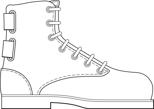 Boot Shoe Clothing Clip Art at Clker.com.