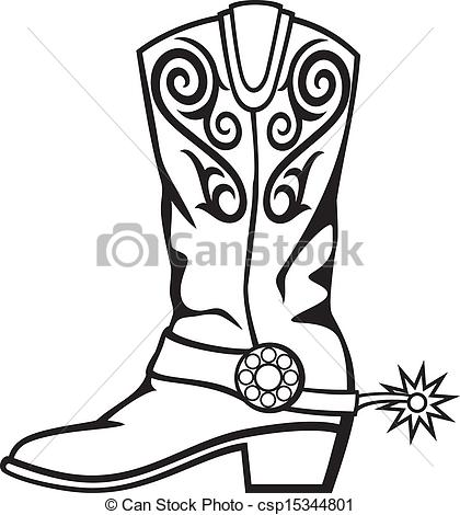 Vector Clipart of cowboy boot.