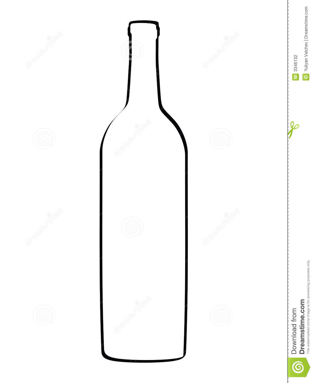 729 Wine Bottle free clipart.