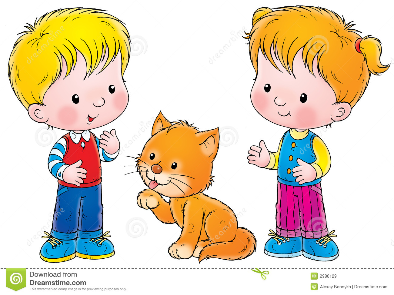 Clipart Boy And Girl.