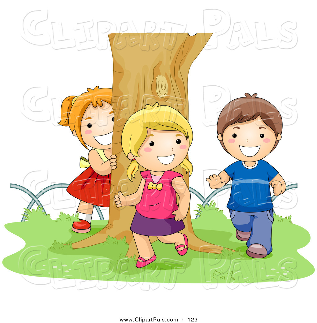 Two Girls And A Boy Clipart.