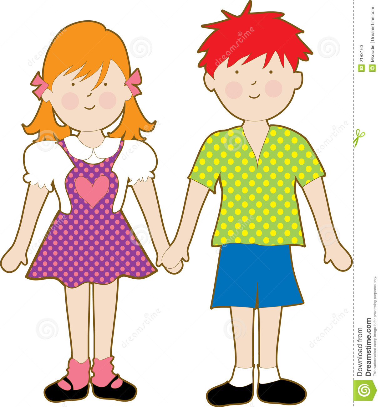 Clipart Girl And Boy.